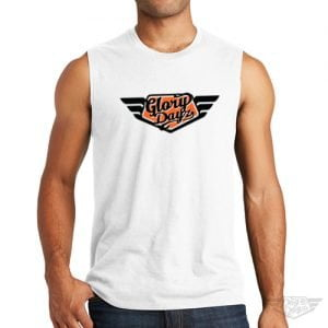 DogDayz Apparel - Muscle Tank - GloryDayz - Men - White Orange
