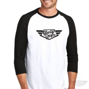 DogDayz Apparel - Raglan Tee - GloryDayz - Men - White Black