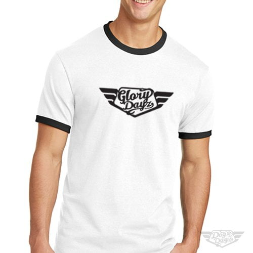 DogDayz Apparel - Ringer Tee - GloryDayz - Men - White Black