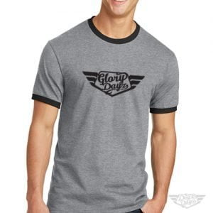 DogDayz Apparel - Ringer Tee - GloryDayz - Men - Heather Grey