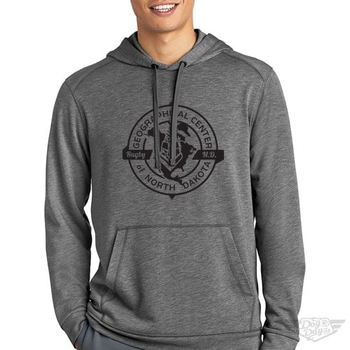 DogDayz Apparel Geographical Center of ND Gray Mens Sweatshirt