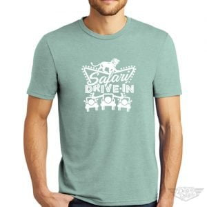 DogDayz Apparel - Tee -Safari Drive-In - Men - Dusty Sage