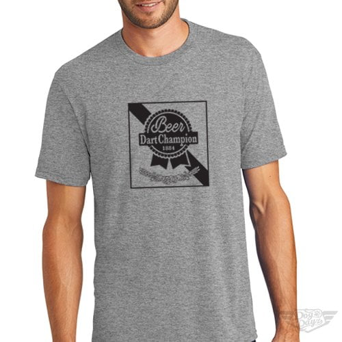 DogDayz Apparel - Tee -Pabst - Beer Dart - Men - Heather Grey