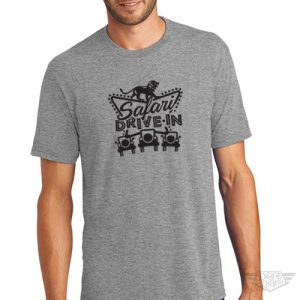 DogDayz Apparel - Tee -Safari Drive-In - Men - Heather Grey