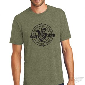 DogDayz Apparel - Tee -Geographical Center of ND - Men - Military Green