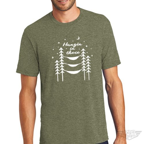 DogDayz Apparel - Tee -Hangin In There - Men - Military Green