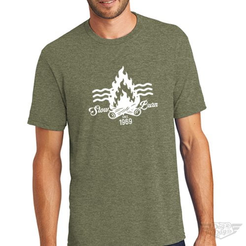 DogDayz Apparel - Tee -Slow Burn - Men - Military Green