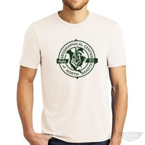 DogDayz Apparel Geographical Center of ND Natural Mens Tee