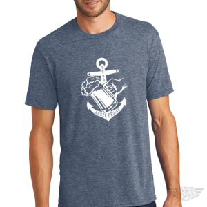 DogDayz Apparel - Tee -Booze Cruise - Men - Navy Frost