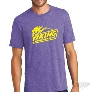 DogDayz Apparel - Tee -Viking Snowmobiles - Men - Purple Frost