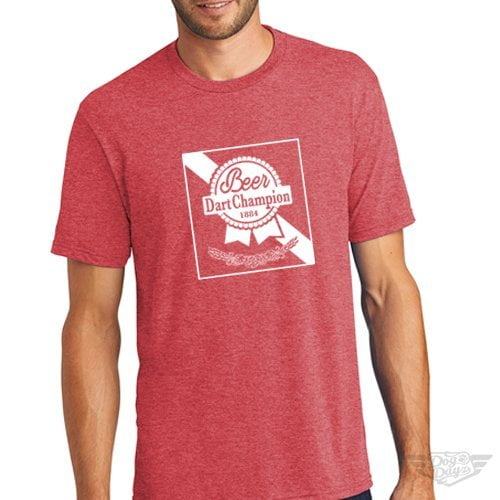 DogDayz Apparel - Tee -Pabst - Beer Dart - Men - Red Frost