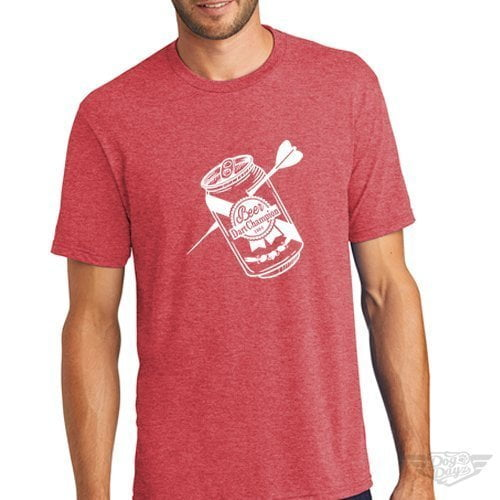 DogDayz Apparel - Tee -Beer Dart - Men - Red Frost