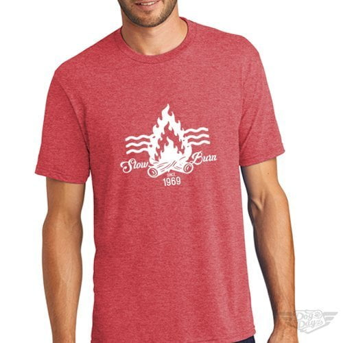 DogDayz Apparel - Tee -Slow Burn - Men - Red Frost