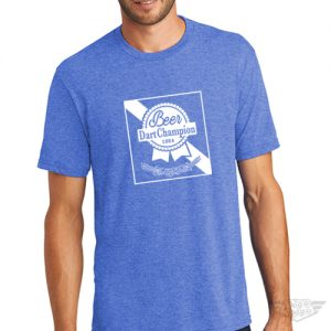 DogDayz Apparel - Tee -Pabst - Beer Dart - Men - Royal Frost