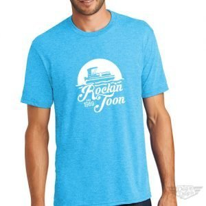 DogDayz Apparel - Tee -Rockin Toon - Men - Turquoise Frost