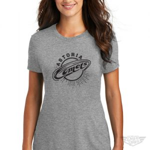 DogDayz Apparel - Tee - Astoria Comets - Women - Heather Grey