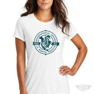 DogDayz Apparel - Tee -Geographical Center of ND - Women - White