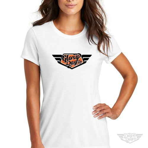 DogDayz Apparel - Tee - GloryDayz - Women - White Orange