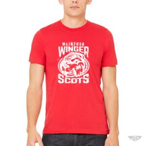 DogDayz Apparel - Mascot Tee - McIntosh Winger Scots - Men - Red