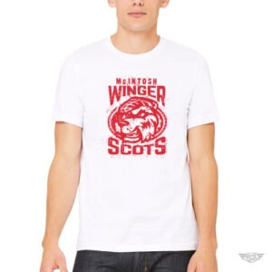DogDayz Apparel - Mascot Tee - McIntosh Winger Scots - Men - White