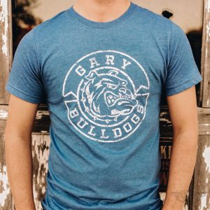 DogDayz Apparel - Tee - Gary Bulldogs - Men - Royal Frost