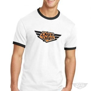 DogDayz Apparel - Ringer Tee - DogDayz - Men - White Orange