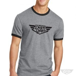 DogDayz Apparel - Ringer Tee - DogDayz - Men - Heather Grey
