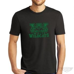 DogDayz Apparel - Tee - White Wildcats - Men - Black