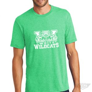 DogDayz Apparel - Tee - White Wildcats - Men - Green Frost