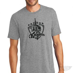 DogDayz Apparel - Tee - Arthur Knights - Men - Heather Grey