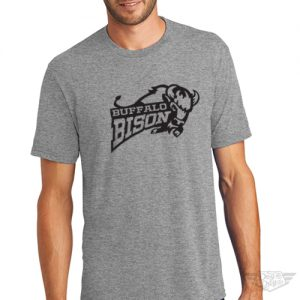 DogDayz Apparel - Tee - Buffalo Bison - Men - Heather Grey