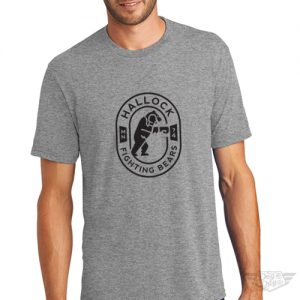 DogDayz Apparel - Tee - Hallock Fighting Bears - Men - Heather Grey