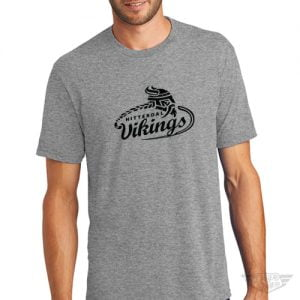 DogDayz Apparel - Tee - Hitterdal Vikings - Men - Heather Grey
