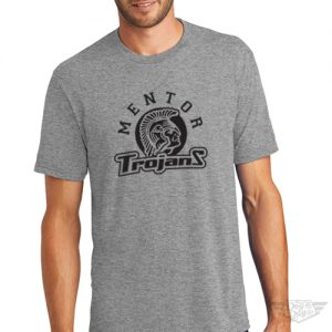 DogDayz Apparel - Tee - Mentor Trojans - Men - Heather Grey
