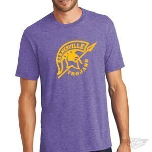 DogDayz Apparel - Tee - Barnesville Trojans - Men - Purple Frost