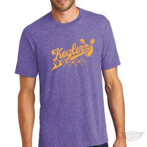 DogDayz Apparel - Tee -Keglers Lanes - Men - Purple Frost