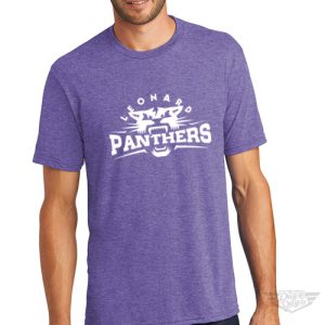 DogDayz Apparel - Tee - Leonard Panthers - Men - Purple Frost