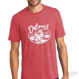 DogDayz Apparel - Tee Detroit Lake - Men - Red Frost