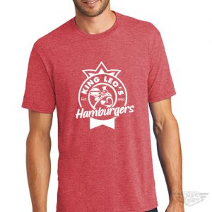 DogDayz Apparel - Tee -King Leos - Men - Red Frost