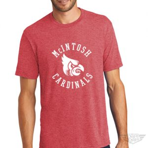 DogDayz Apparel - Tee - McIntosh Cardinals - Men - Red Frost