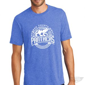 DogDayz Apparel - Tee- Norman County West Panthers - Men - Royal Frost