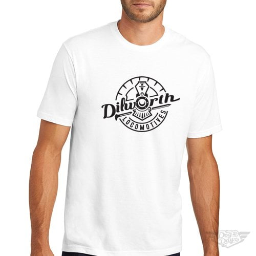 DogDayz Apparel - Tee - Dilworth Locomotives - Men - White