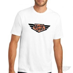 DogDayz Apparel - Tee - GloryDayz - Men - White Orange