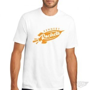 DogDayz Apparel - Tee - Kennedy Rockets - Men - White