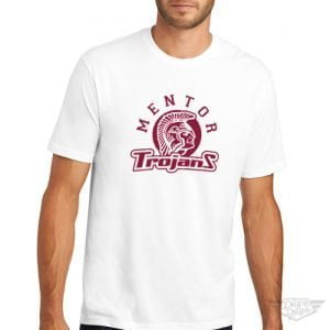 DogDayz Apparel - Tee - Mentor Trojans - Men - White