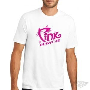 DogDayz Apparel - Tee - Pink Pussycat - Men - White