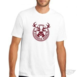 DogDayz Apparel - Tee - Starbuck Bucks - Men - White