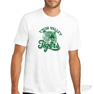 DogDayz Apparel - Tee - Twin Valley Tigers - Men - White