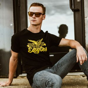 DogDayz Apparel - Tee - Norman County East Eagles - Men - Black