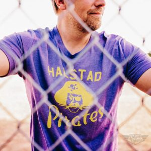 DogDayz Apparel - Tee - Halstad Pirates - Men - Purple Frost